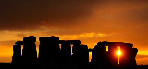 Stonehenge - Orange clouds. © Adam Stanford.